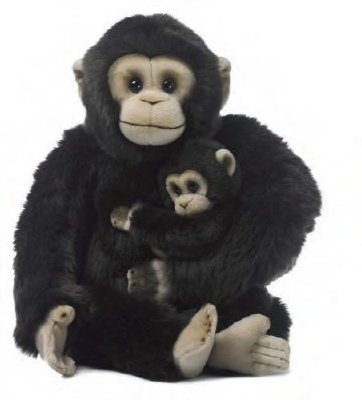 WWF-15191010 WWF Chimpanzee Mum and Babe 30cm